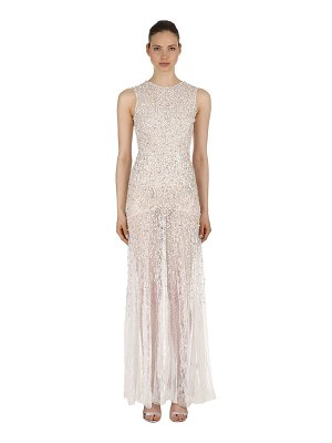 AMEN COUTURE Embellished stretch lace gown