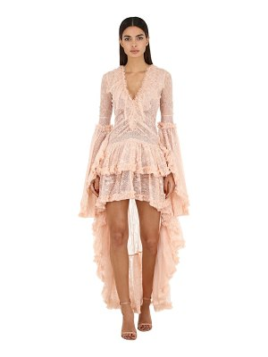 AMEN COUTURE Tiered lace dress w/ ruffles