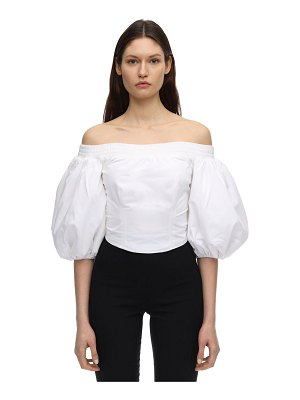 AMEN Cropped cotton poplin top