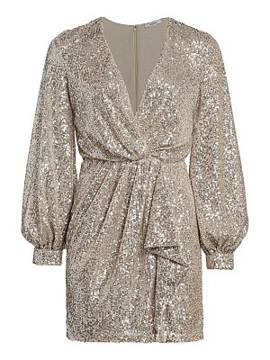 AMEN faux-wrap sequin mini dress