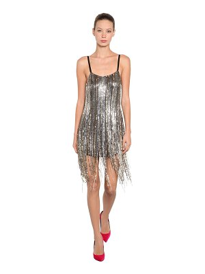 AMEN Fringe sequined mini dress