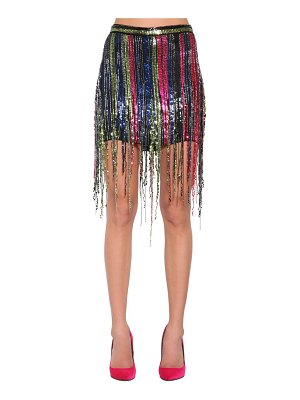 AMEN Fringe sequined mini skirt