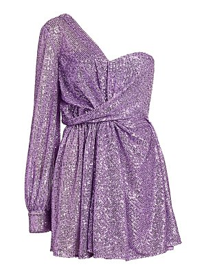 AMEN one-shoulder sequin cocktail dress