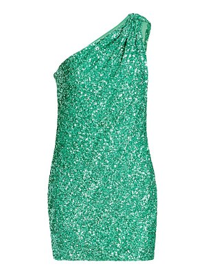 AMEN one-shoulder sequin mini dress