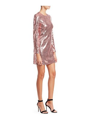 AMEN sequin cutout mini dress