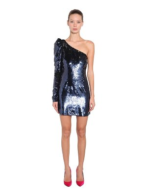 AMEN Sequined asymmetrical mini dress