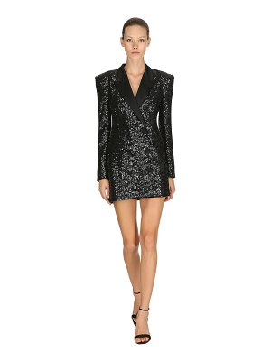 AMEN Sequined double breasted blazer dress