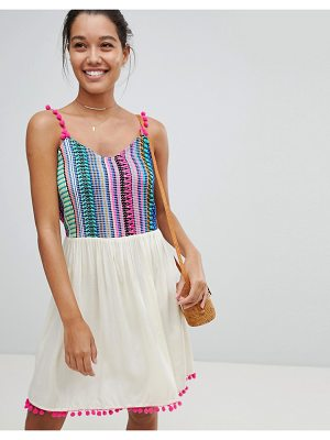 America & Beyond Multi Color Beach Dress
