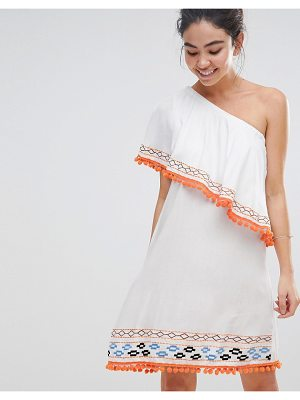 America & Beyond One Shoulder Beach Dress