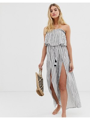 America & Beyond silver outline beach jumpsuit