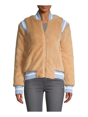 American Stitch Faux Fur Teddy Bomber Jacket