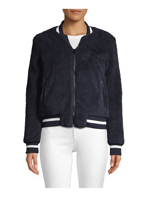 American Stitch Faux Fur-Trimmed Bomber Jacket