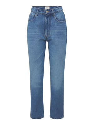 AMI PARIS Straight fit mid washed indigo jeans