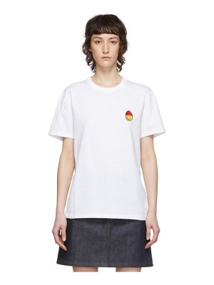AMI Alexandre Mattiussi white smiley t-shirt