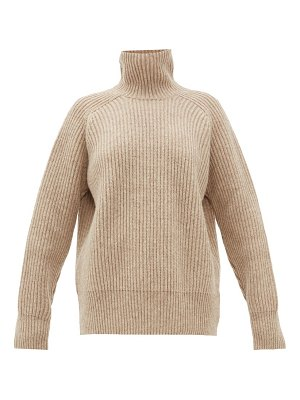 Ami high neck ribbed wool sweater