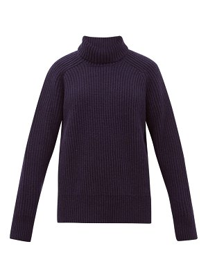 Ami roll neck wool sweater