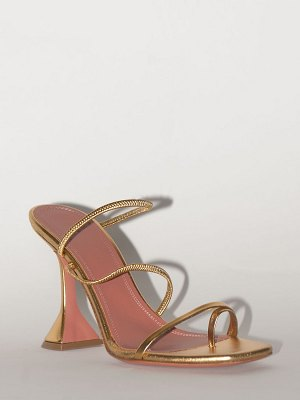 AMINA MUADDI 95mm exclusive naima leather sandal