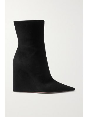 AMINA MUADDI pernille suede wedge ankle boots