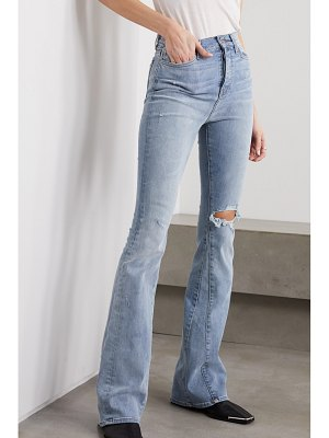 Amiri distressed stretch-denim high-rise flared jeans