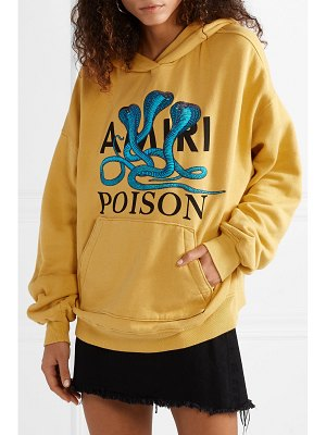 Amiri embroidered printed cotton-jersey hoodie