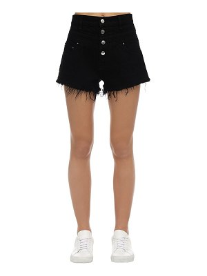 Amiri High waist denim track shorts