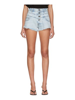 Amiri indigo high waisted track shorts