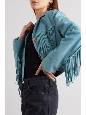 Amiri oversized fringed suede jacket
