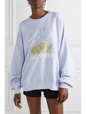 Amiri oversized printed cotton-jersey sweatshirt