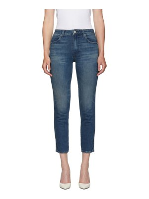 AMO blue high-rise stix crop jeans