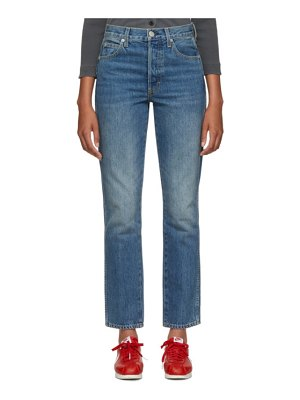 AMO blue stella high-rise slim straight jeans