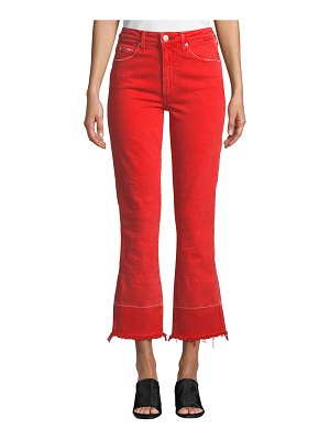 AMO Denim Bella High-Rise Flare-Leg Jeans with Released Hem