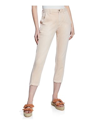 AMO Denim Slouch Cropped Straight-Leg Trousers