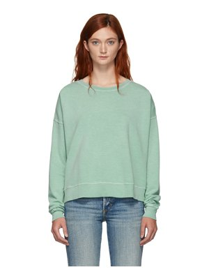 AMO green classic sweater