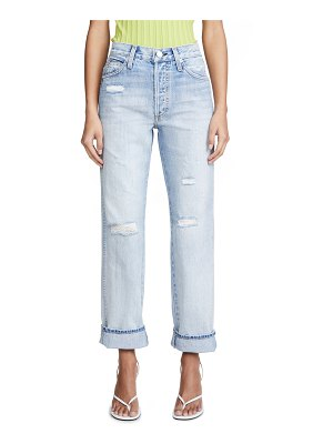 AMO layla high rise relaxed straight leg jeans