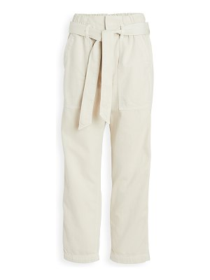 AMO relaxed straight leg paperbag pants