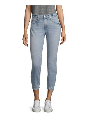 AMO stix distressed cropped skinny jeans