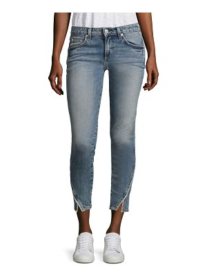 AMO Twist Side Pipe Skinny Jeans