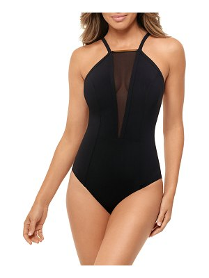 Amoressa by Miraclesuit Gold Standard High-Neck One-Piece Swimsuit