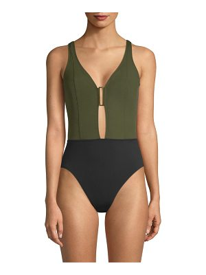 Amoressa eclipse ursa v-neck one-piece swimsuit