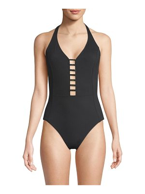 Amoressa meridian lyra halter one-piece swimsuit
