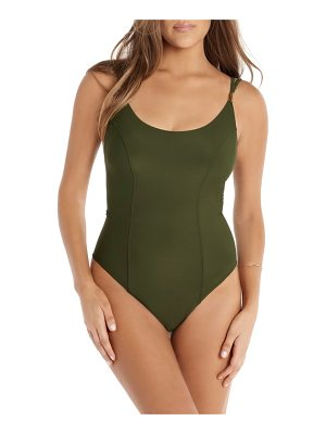 Amoressa solid diana one-piece swimsuit