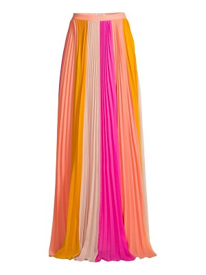 AMUR abby plissé pleated maxi skirt