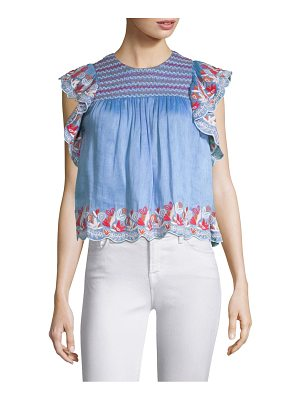 AMUR claire embroidered top