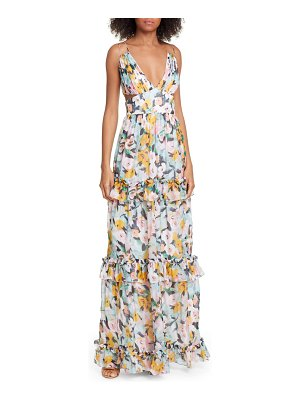 AMUR drew floral print evening dress