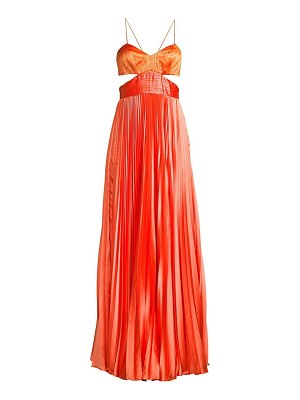 AMUR elodie pleated cut-out gown