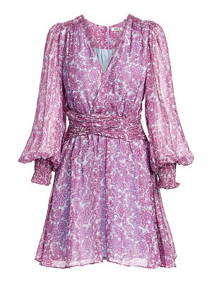AMUR floral faux wrap dress