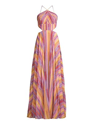 AMUR janet striped halter gown