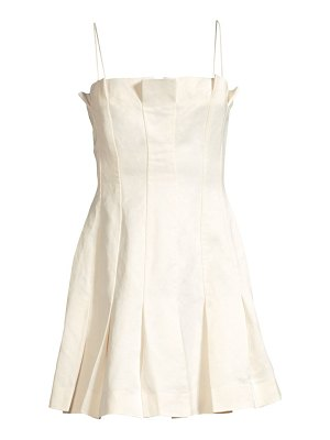 AMUR joy linen-blend slip dress