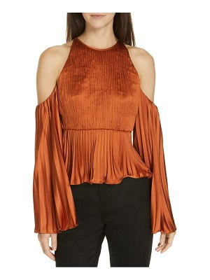 AMUR kris pleated satin top