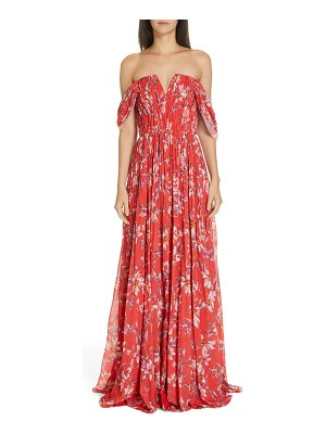 AMUR kyla off the shoulder chiffon maxi dress